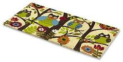 "Kempf Forrest Owls Coco Door Mat with Vinyl Backing 18"" x 30"