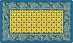 Toland Home Garden French Paisley Yellow 18 x 30 Inch Decora