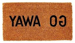 Kempf Go Away Doormat Funny Indoor Outdoor Rubber Floor Mat