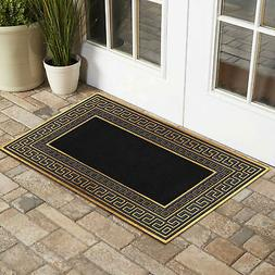 Golden Trim Welcome Door Mat PVC Entrance Rug Rubber Mat Gol