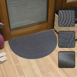 Half Round Door Mat Entrance Rug Floor Mats, Waterproof Floo