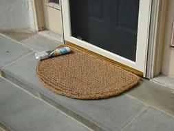 "Half Round Dragon Coir Doormat 1"" Thick - 18 by 30-Inch"