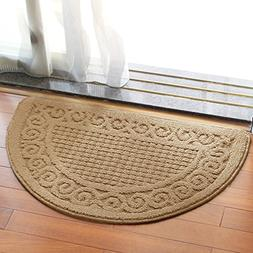 Olpchee Half Round Non-Slip Kitchen Bedroom Toilet Doormat F