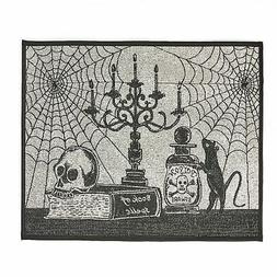Halloween Accent Mat With Spider Webs, Skill - Vintage-Style