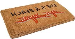 Handwoven, Extra Thick Doormat | Entryway Door mat for Patio