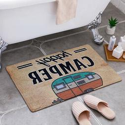 happy camper camping door mat entrance floor