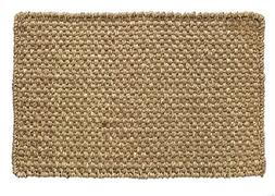 HF by LT Boho Market Ella Basketweave 100% Seagrass Doormat,