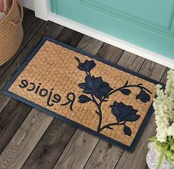 Holiday Non Slip Indoor/Outdoor Coir Door Mat for Entrance/P