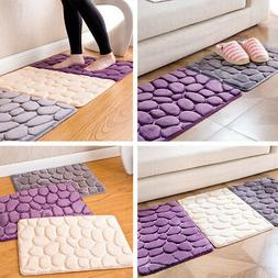 Home Absorbent Non-slip Cobblestone Rug Bathroom Kitchen Mat