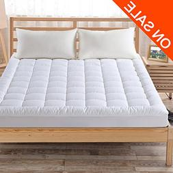 Fairyland Hypoallergenic Quilted Mattress Pad Cover with 300
