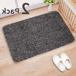 "2Pack Indoor Doormat Absorbs Water 28""x18"" Latex Backing Non"