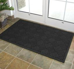 Indoor Outdoor Door Entrance Mat Gray Heavy Duty Carpet Floo