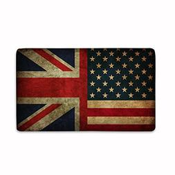 Candy House Indoor Super Absorbs Mud American and UK Flag De