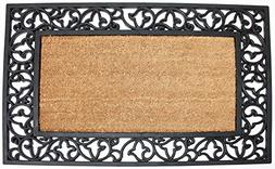 "Natural Coir Rubber Non-Slip Doormat, 24x40"", Heavy Duty Ent"