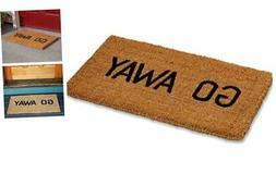 Kempf Go Away Doormat, 16 by 27 by 1-Inch, Funny Entrance Ma