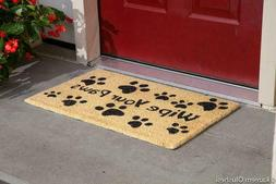 Kempf Wipe Your Paws Coco Doormat, Rubber Backed, 18 By 30 B