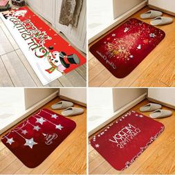 Kitchen Bedroom Christmas Door Mat Anti-slip Floor Rug Bathr