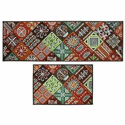 Kitchen Floor Mat 2 Piece Sets Doormat Runner Bathroom Rug L