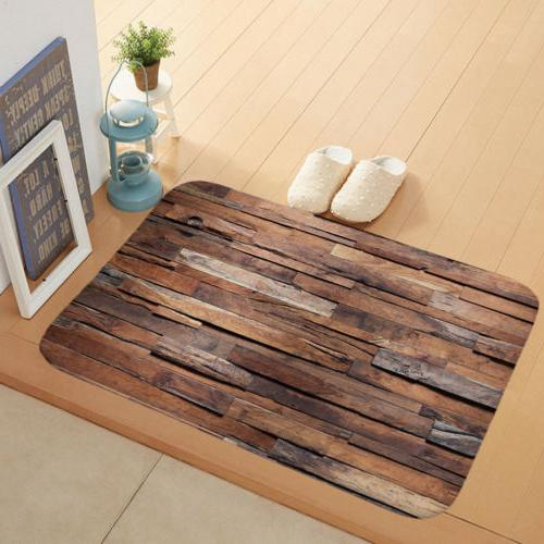 "16""x24"" Door Indoor Welcome Barn Wood Doormat Slip"