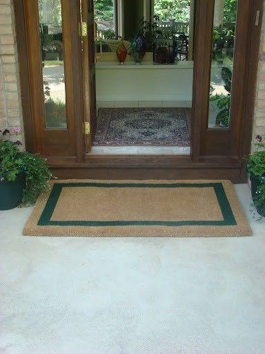 KEMPF 1836 18 in. x 30 in. Border Coco Coir Doormat - Heavy