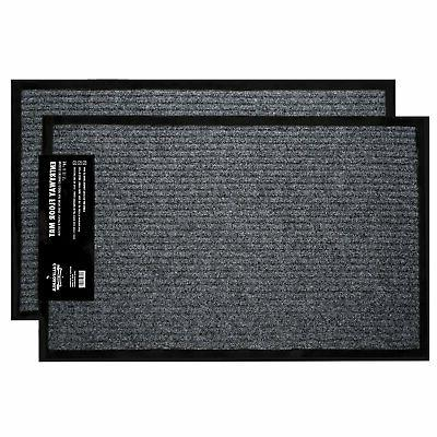 California Home Goods 2-Pack Ribbed Indoor Outdoor Rug Entra
