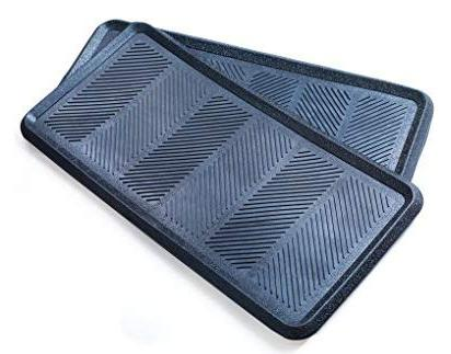 Iron - 2 Pack - Big - Tray Indoor or Outdoor Use - Rubber - All Weather Outdoor