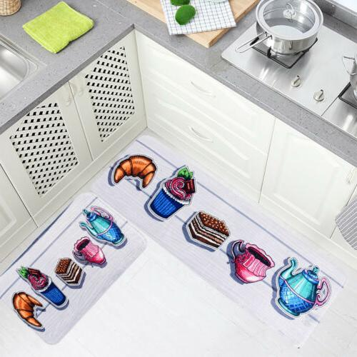 2Pcs Set Kitchen Mat Carpet Rug