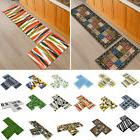 2Pcs Kitchen Floor Carpet Non-Slip Area Rug Bathroom Door Ma