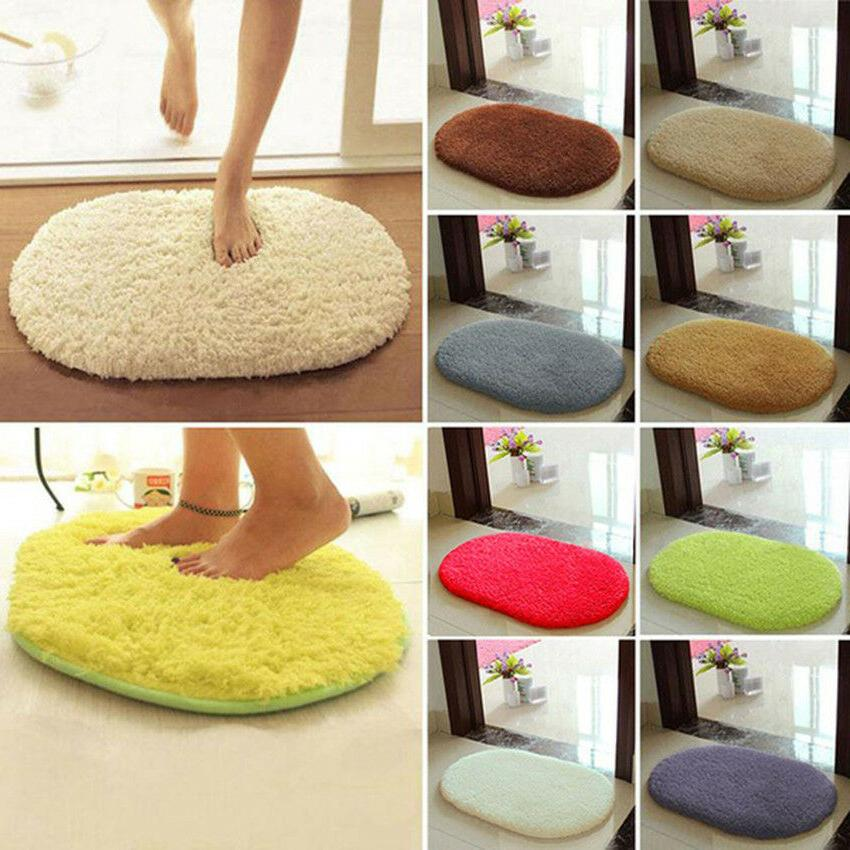 30*60cm Anti-Skid Fluffy Shaggy Area Rug Home Bedroom Bathro