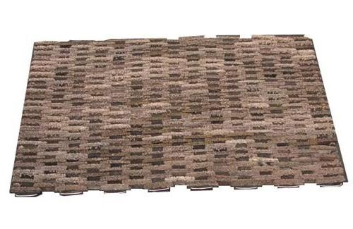 """Durable Recycled Tire-Link Outdoor Mat, 20"""" 30"""""""