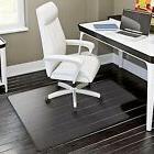 "48""x36"" Plastic Floor Mat Clear Protector Office Chair Rug F"