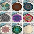9 Types India Mandala Non-slip Door Round Rugs Room Floor Yo