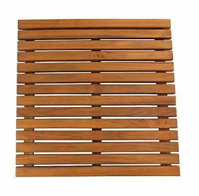 SeaTeak Teak Shower Mat