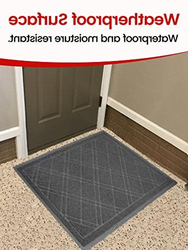 SlipToGrip Gray Door Mat