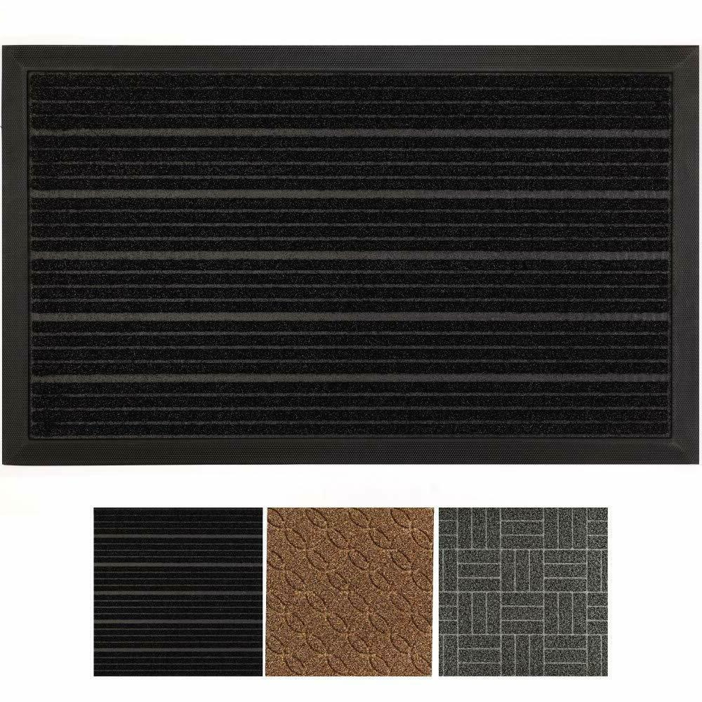 All-Natural Rubber Commercial Door Mat Large Durable