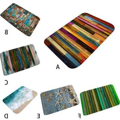 Anti-slip Soft Flannel Door Mat Kitchen Floor Rug Long