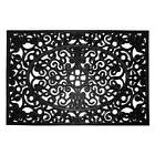 "24"" x 36"" Black Rubber Rectangular Outdoor Door Mat Home Com"