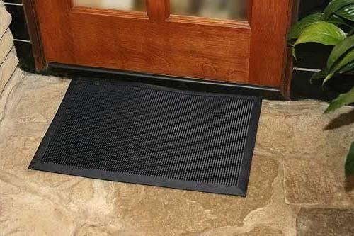 Black Thick Duty Rubber Door Restaurant Entrance Mat