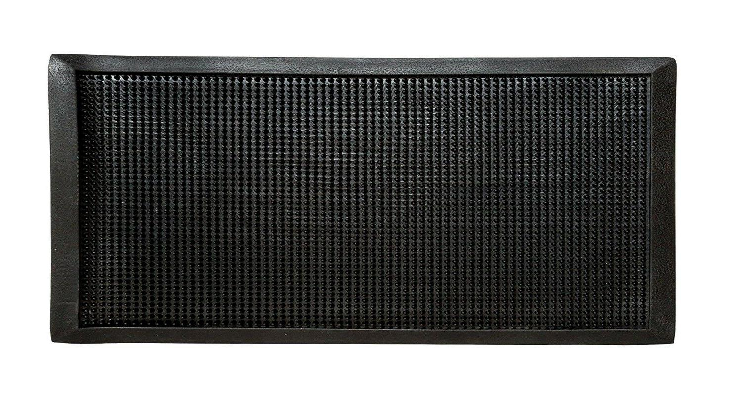 Black Durable Heavy Duty Door Mat