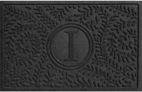 Bungalow Flooring Boxwood Charcoal 24 in. x 36 in. Monogram