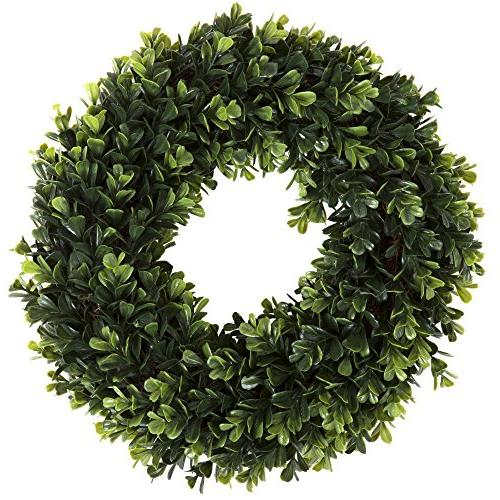 Boxwood Artificial for Front by Pure Garden, Home Décor, UV Resistant 12 Inches