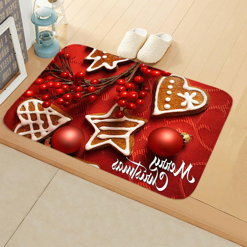 Christmas Santa Door Outdoor Rug Room Decor