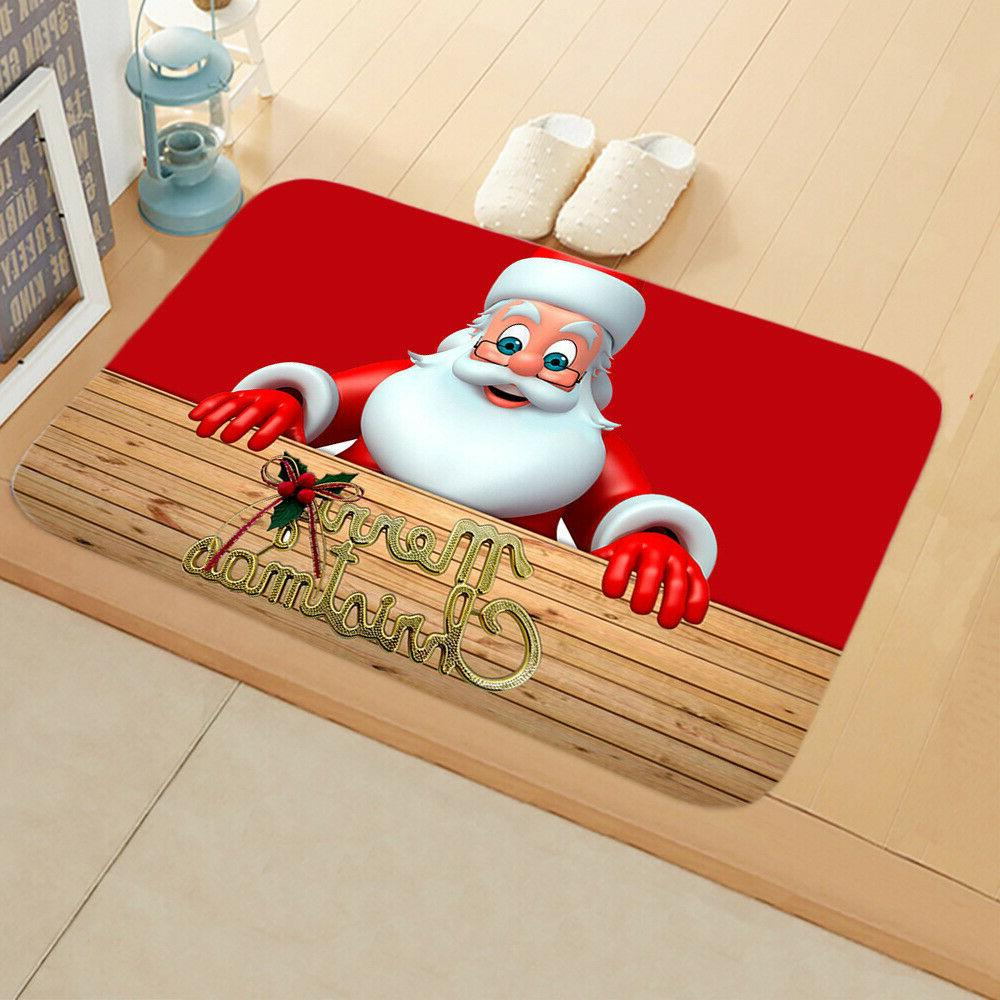 Christmas Santa Claus Pad Door Mat Outdoor Rug Room Decor