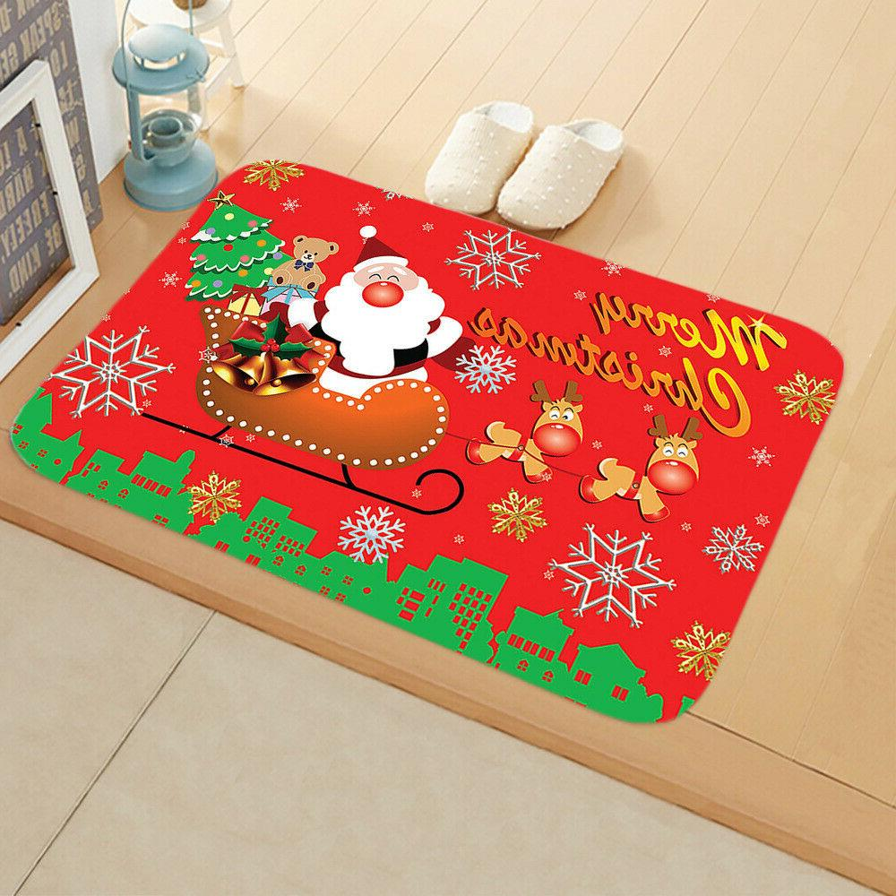 Christmas Santa Claus Door Outdoor Rug Room