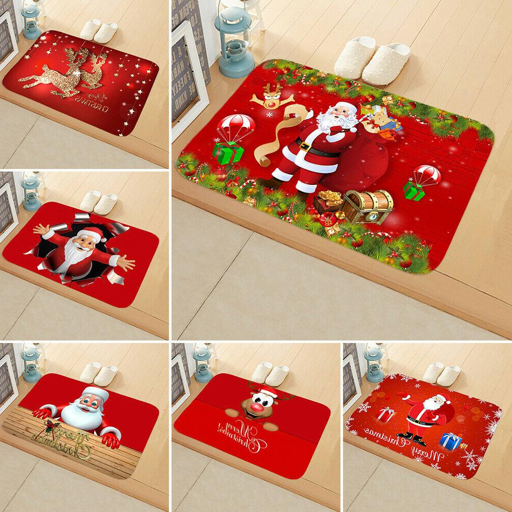christmas santa claus pad door mat floor