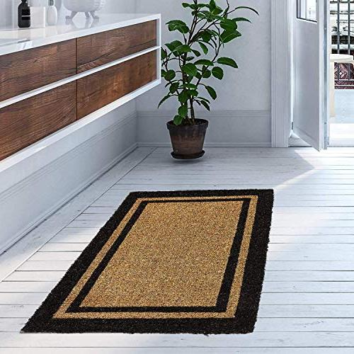 """Kempf Outdoor with Border Your Clean With Outdoor Doormats 24"""" X"""