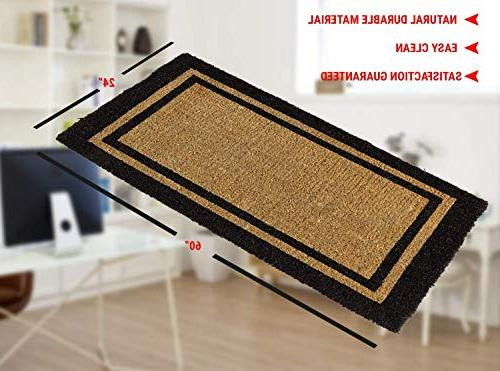 """Kempf Outdoor Black Border Keep Your Clean With Doormats 24"""""""