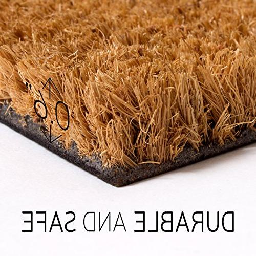 MPLUS Coco Doormat Backing - Size: x - Pile Height: 0.6-Inches - Outdoor/Indoor uses.