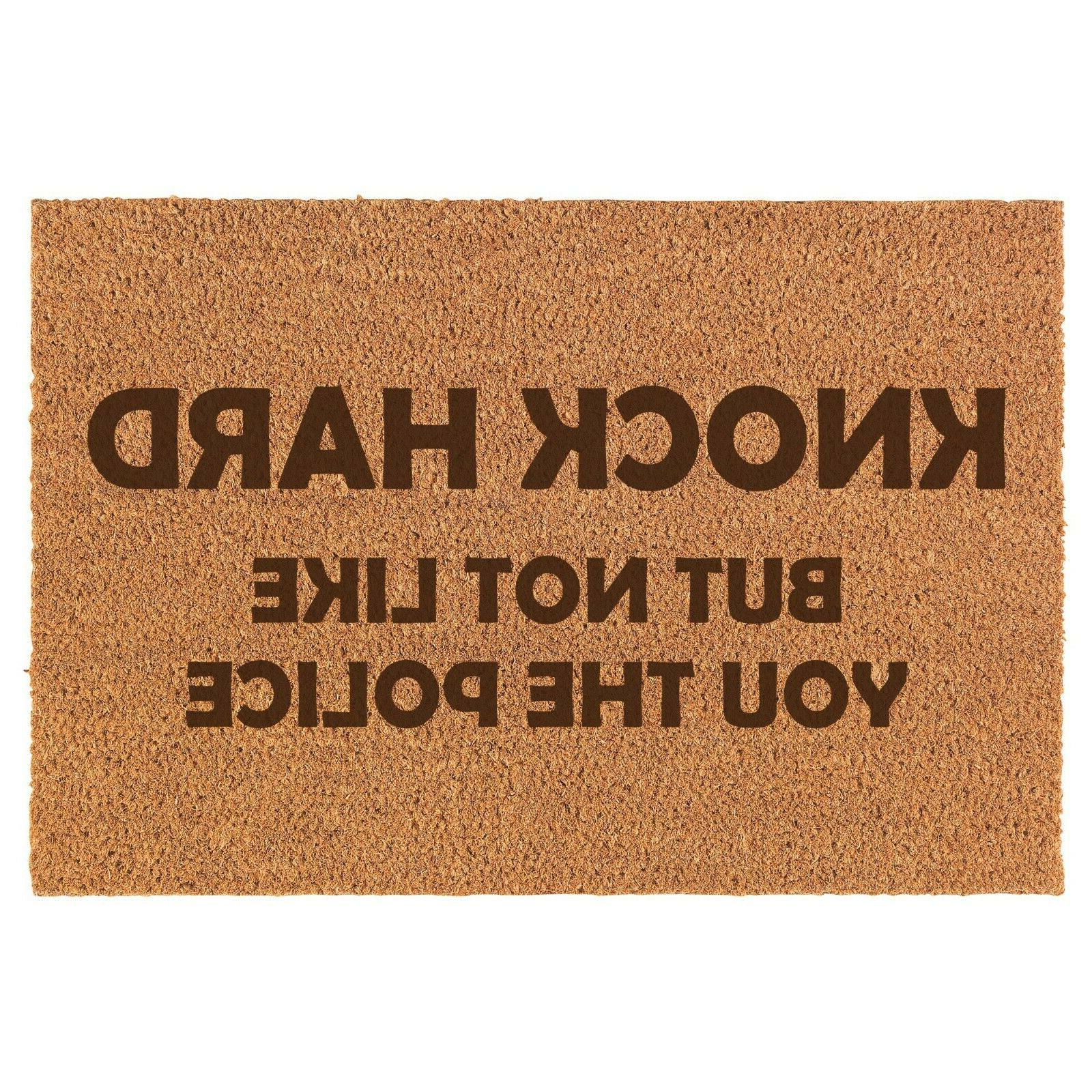 coir door mat entry doormat knock hard