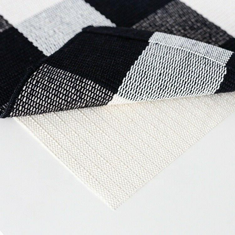 Cotton Plaid Area Rug Checkered Woven Door Mat Pad ft